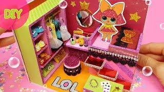 DIY Miniature dollhouse -  LoL Surprise ! room decor