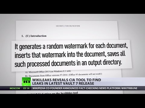 Vault 7: WikiLeaks reveals CIA tool to find leaks
