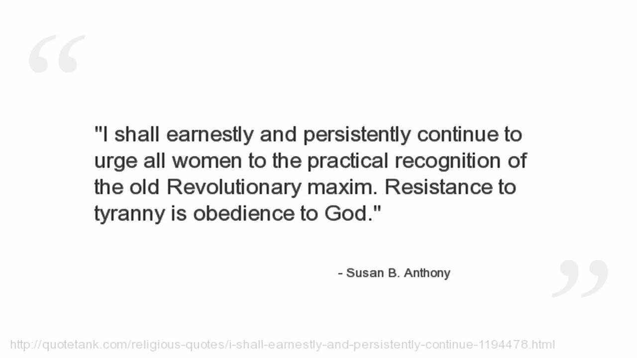 Women's Suffrage Quotes Susan Banthony Quotes  Youtube