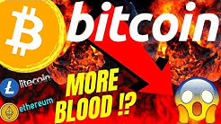 URGENT! MORE BLOOD FOR BITCOIN LITECOIN ETHEREUM and DOW??Crypto price TA, analysis, news, trading