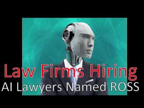 World's first robot lawyer ROSS hired by US law firm