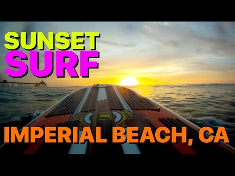 Sunset Surfing in Imperial Beach California
