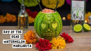 Day of the Dead Watermelon Margarita - Tipsy Bartender