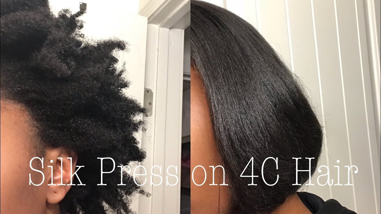 Silk Press on MY 4c Natural Hair  YouTube