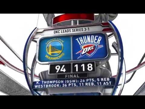 Golden State Warriors vs Oklahoma City Thunder - May 24, 2016