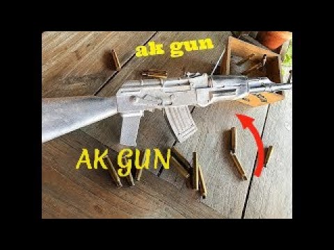 Casting real AK GUN from aluminium !!