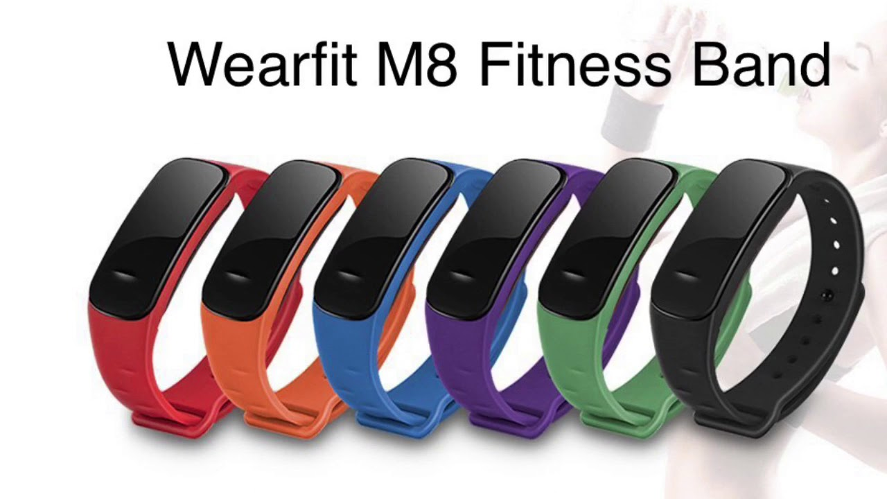 Wearfit M8 Fitness Band - YouTube