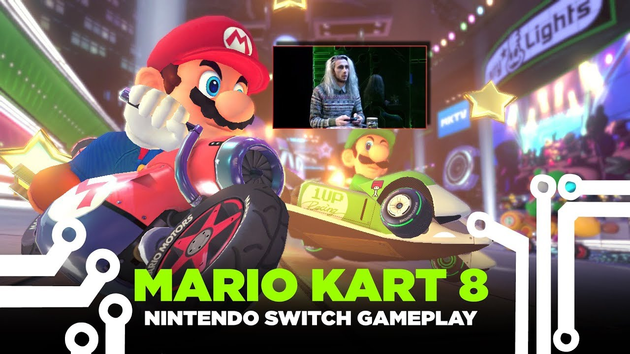 Geek Room Mario Kart 8 Nintendo Switch Gameplay In Tv