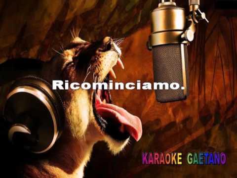 Adriano Pappalardo Ricominciamo Karaoke