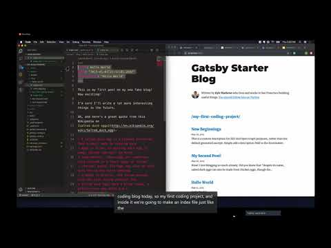 Learn Gatsby: How To Build Your First Gatsby Blog