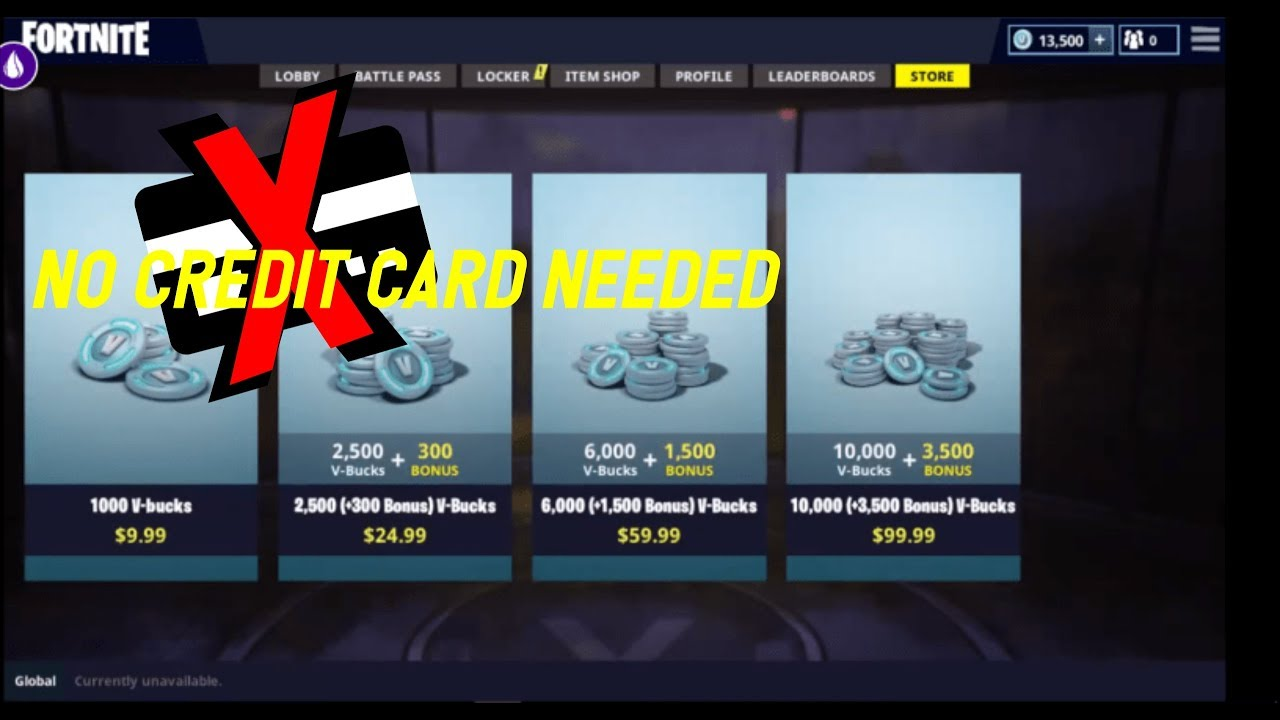 How to buy vbucks in pc without credit card - YouTube
