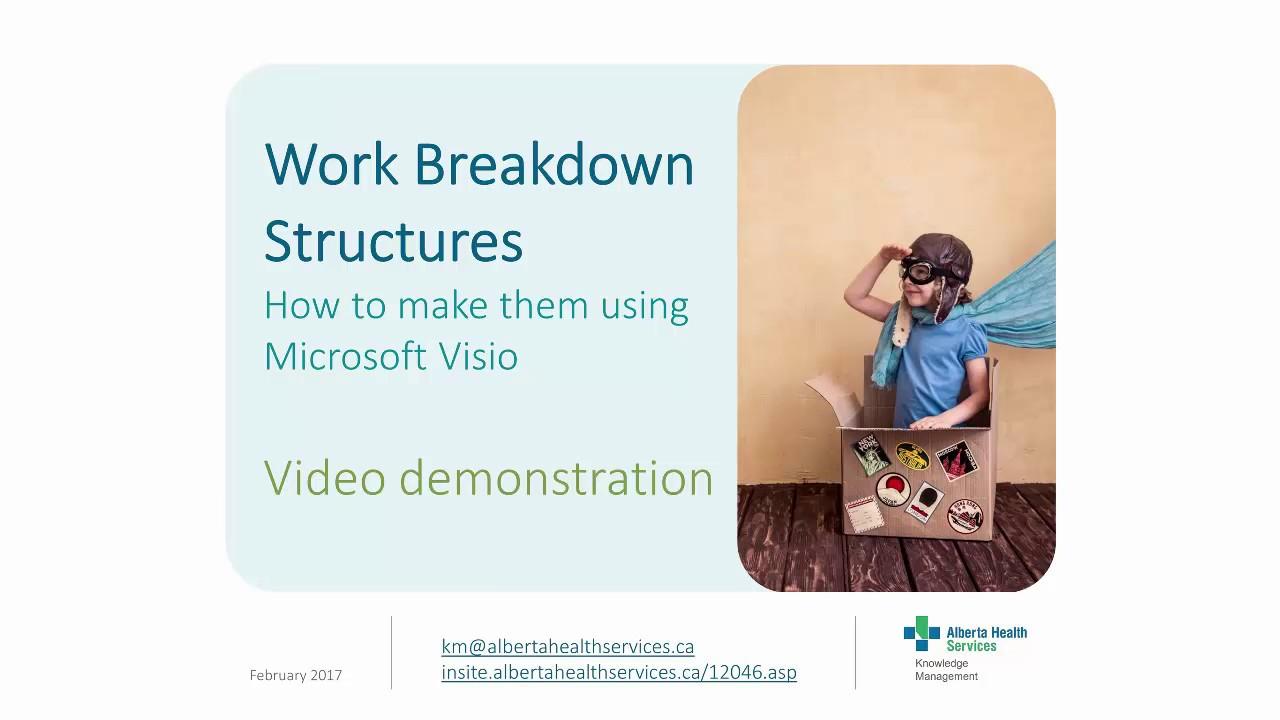 Work Breakdown Structure Using Visio