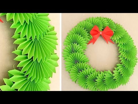 DIY Paper Christmas Wreath | Decoration Ideas For Upcoming Christmas By Julia ART & CRAFT
