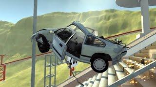 Yüksekten Düşen Araba Testleri Bölüm 1  BeamNG.Drive