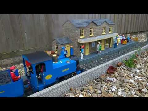 Roundhouse George with Laser Cut Ready Made Wagons running on Garden Railway