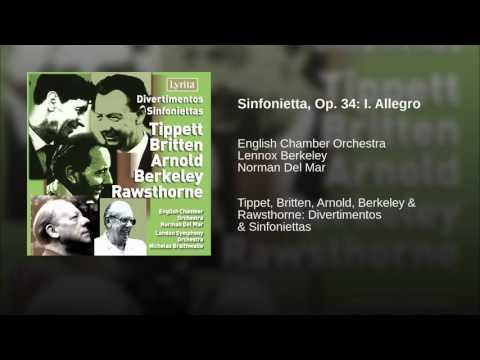 Sinfonietta, Op. 34: I. Allegro