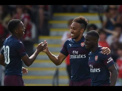 boreham wood 0- 8 arsenal Aubameyang hits 17-minute hat-trick