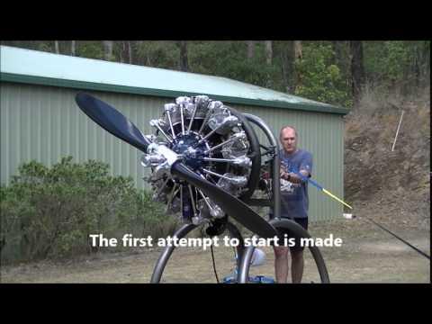 Radial Engine Startup Pratt & Whitney R985 (Wasp Junior