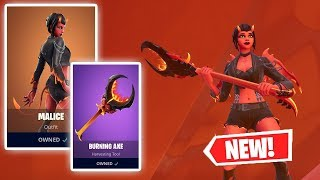 NEW MALICE SKIN AND BURNING AXE GAMEPLAY IN FORTNITE!