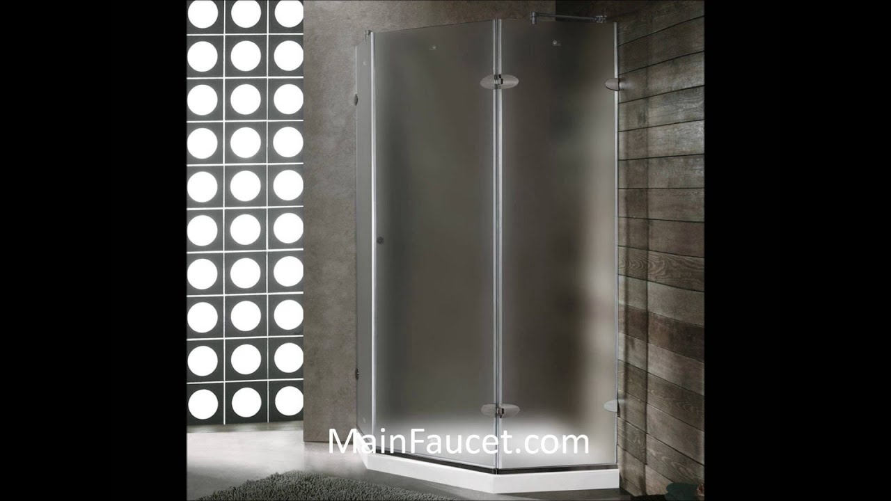 Vg6061bnmt40wls Vigo 40 X 40 Frameless Frosted Glass Shower