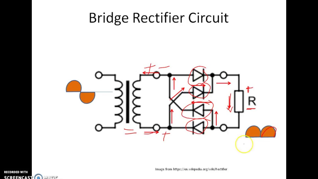 Rectifier Circuit Diagram Ac To Dc Full Wave Connection