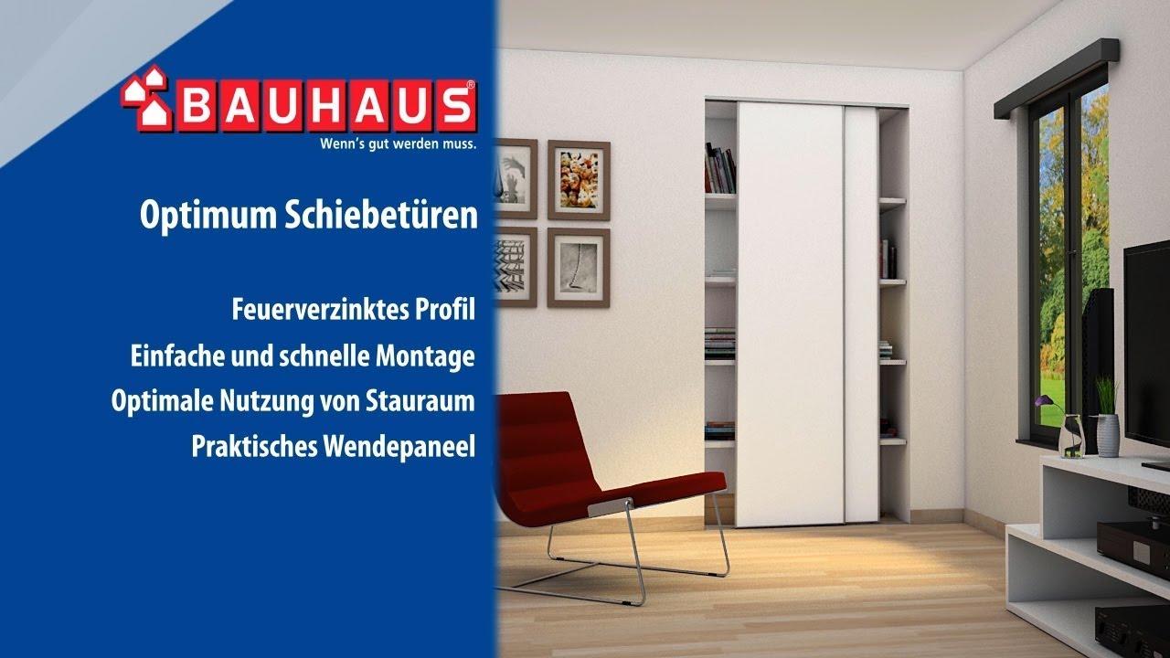 Gut gemocht Schiebetürset Optimum - BAUHAUS TV - YouTube AJ51