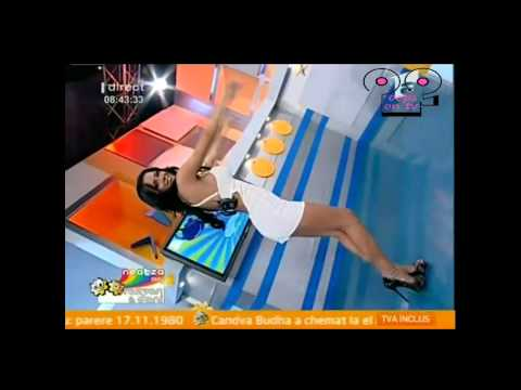 Oops OnTV Game Show - Dance on morning show - slips from the weather girl