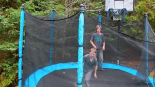 One of  these cloudy days - Trampoline edit