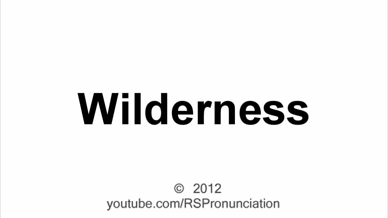 How to Pronounce: Wilderness - YouTube
