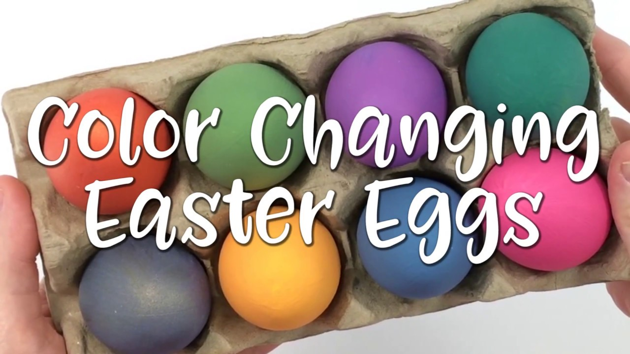 Thermochromic Color Changing Easter Eggs Youtube