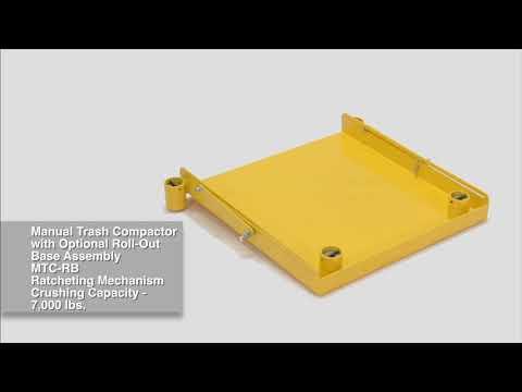 Vestil MTC-55 & MTC-55-RB Mechanical Trash Compactors