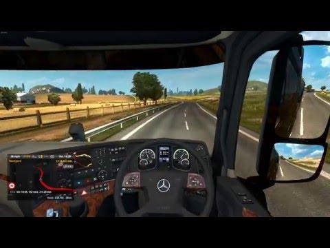 Euro Truck Simulator 2 - Southampton UK to Birmingham UK - Mercedes New Actros