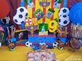 DIY under $100 Dollar Tree FC Barcelona Birthday Theme