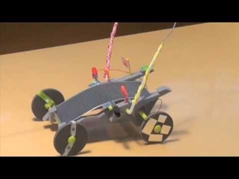 子供たちデザインのソーラーモーターカー/Solar car of children of design.