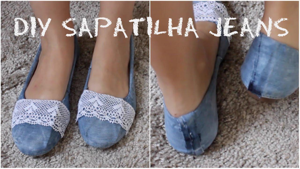 de927137a1 DIY  Sapatilha Jeans - YouTube
