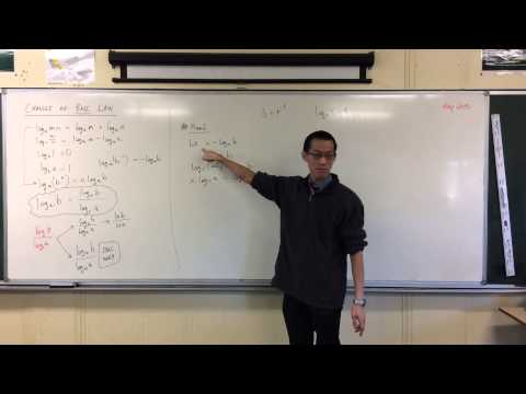 Logarithms / Change of Base (2 of 2: Deriving the Law)
