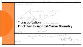 Transportation   Find the Horizontal Curve Boundry