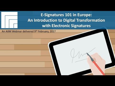 [Webinar Replay] E-Signatures 101 in Europe