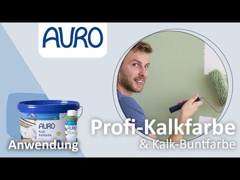 AURO Anwendung Kalkfarben und Kalk-Buntfarben