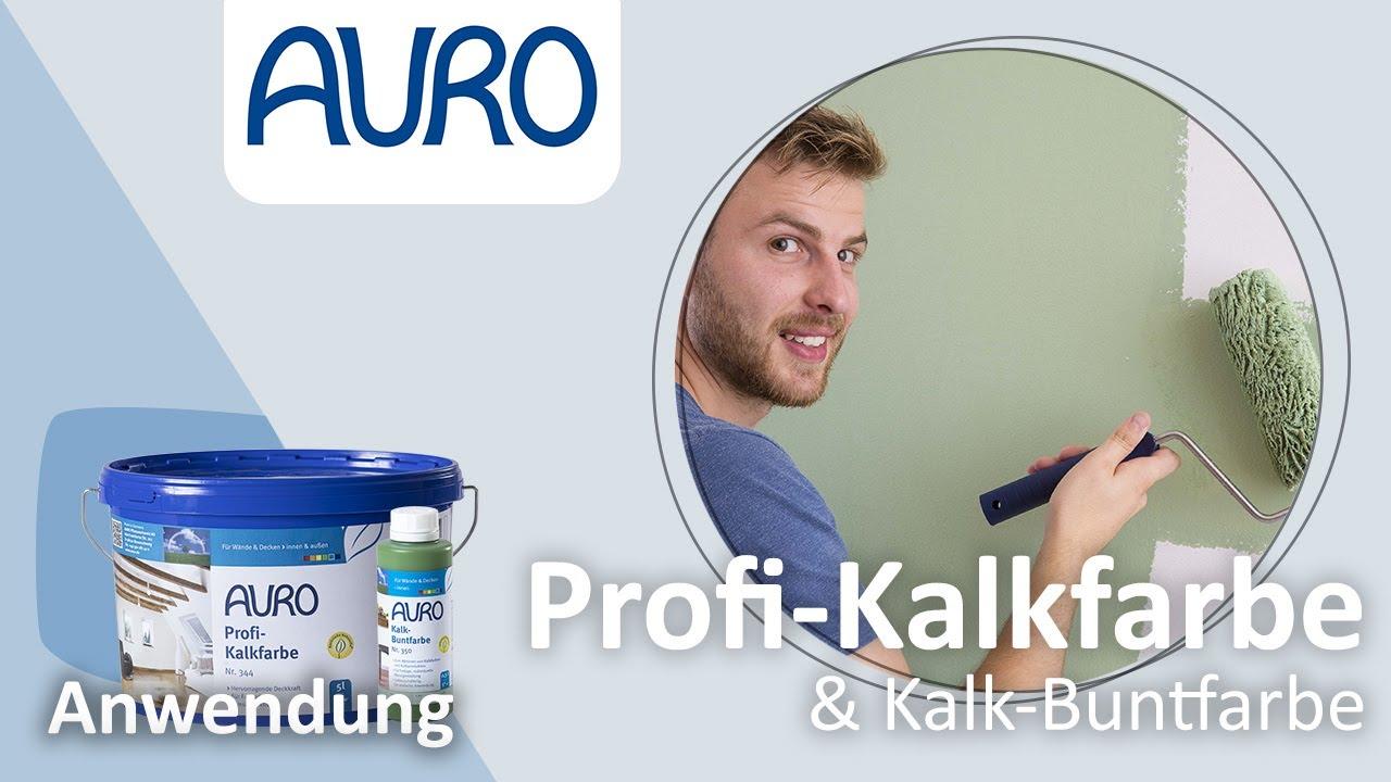 Relativ AURO Anwendung Kalkfarben und Kalk-Buntfarben - YouTube GY38