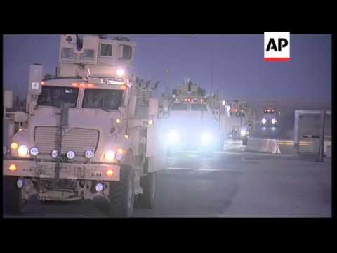 Last US troops leave Iraq, closing of border gates