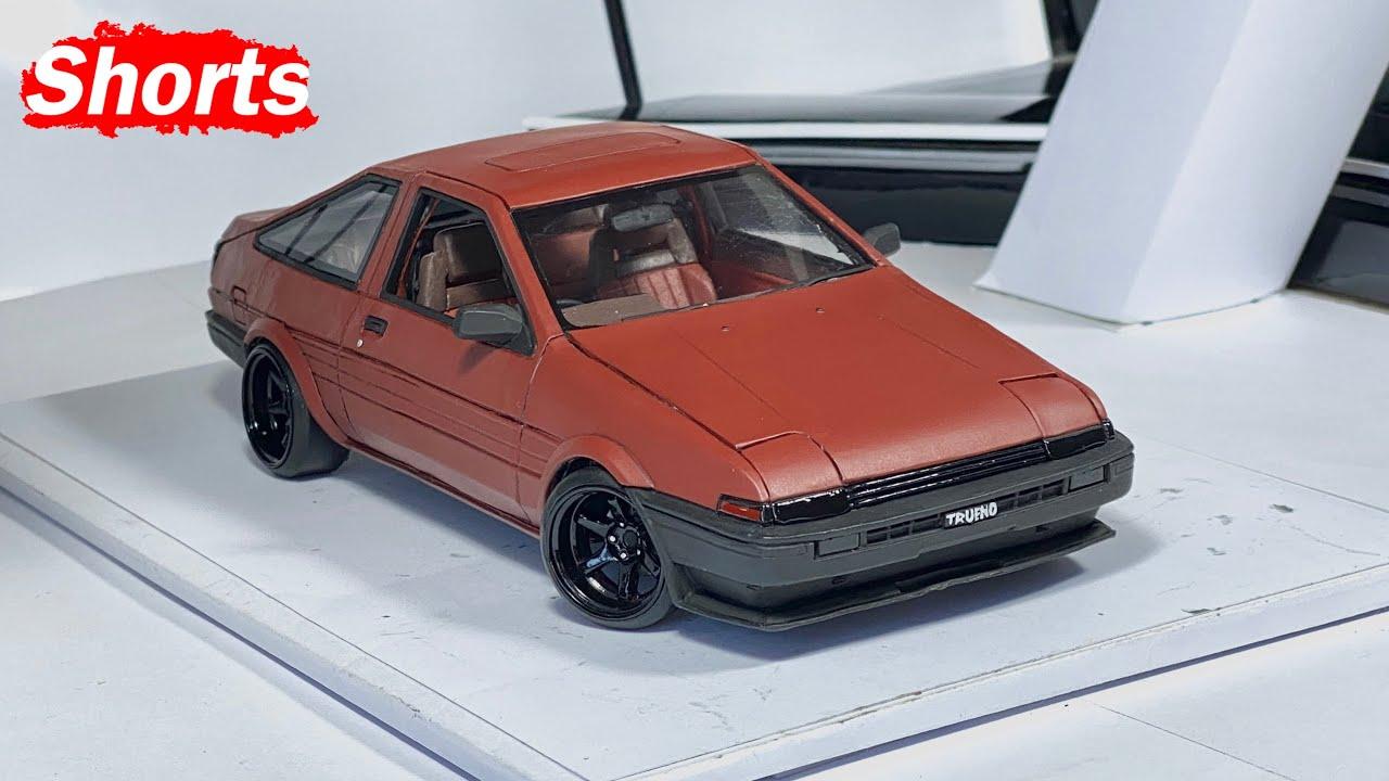 Из пластилина в машину Toyota trueno AE86 создание с нуля #Shorts