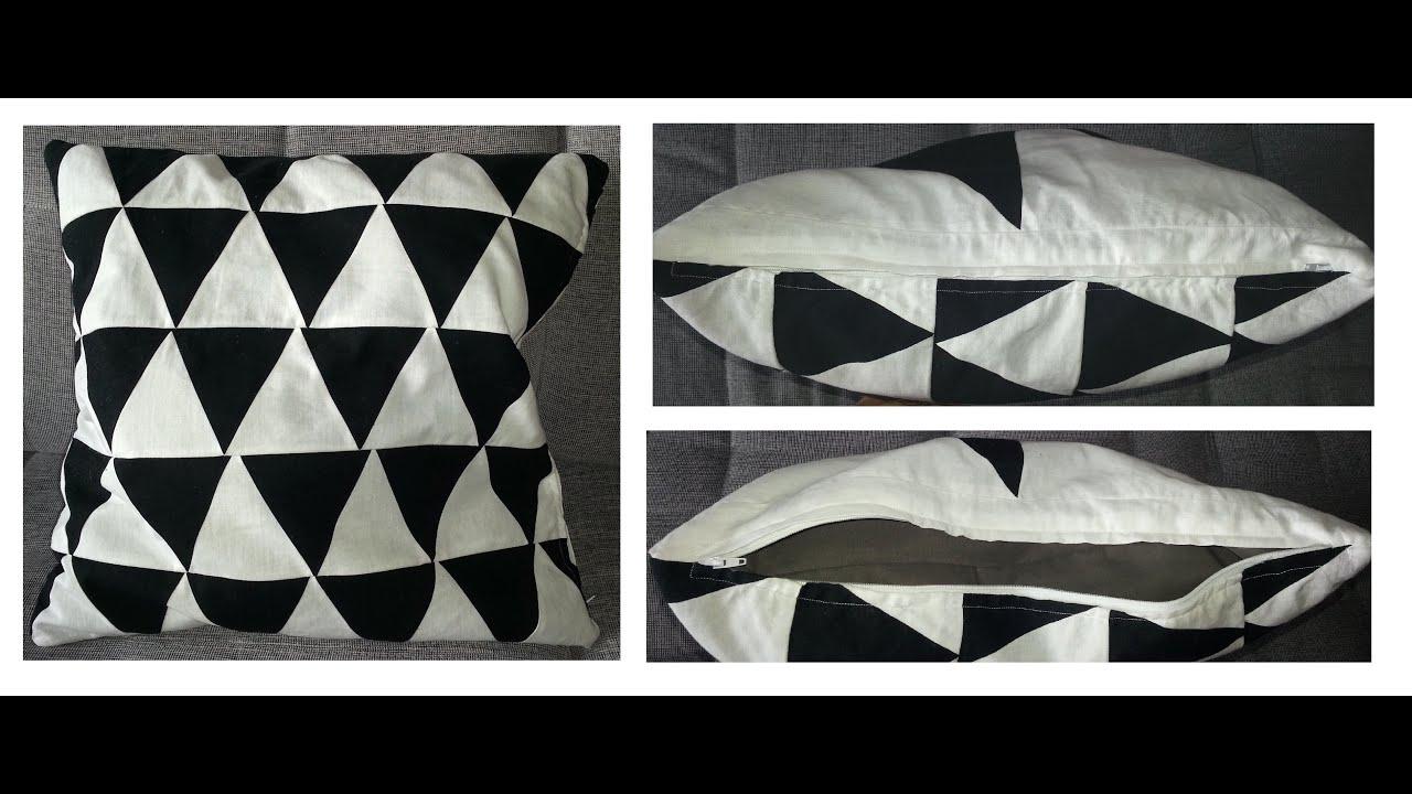 diy cushion cover with zip kissenbezug selber n hen mit rei verschlu youtube. Black Bedroom Furniture Sets. Home Design Ideas