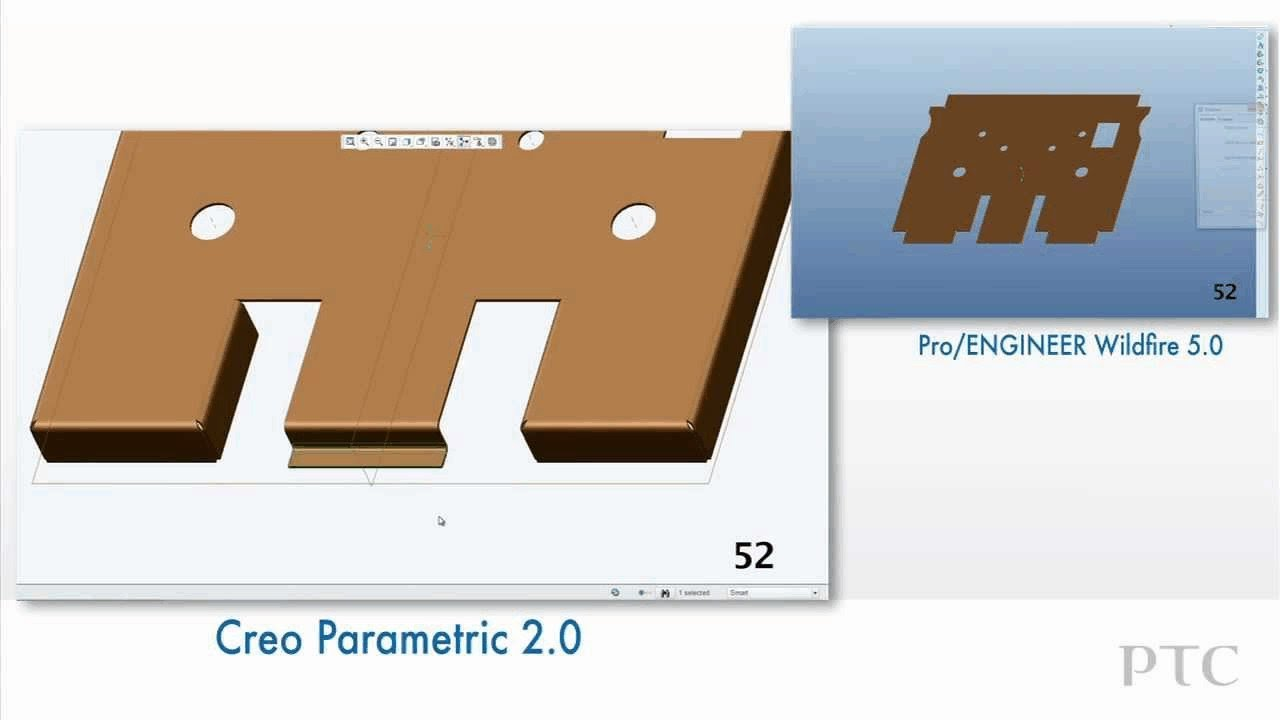 Compare Sheet Metal Design In Creo Parametric And Pro
