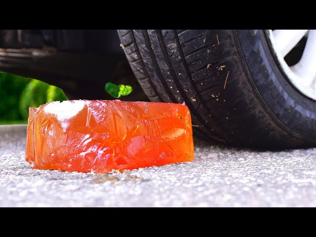 Crushing Crunchy & Soft Things by Car! EXPERIMENT CAR vs JELLY