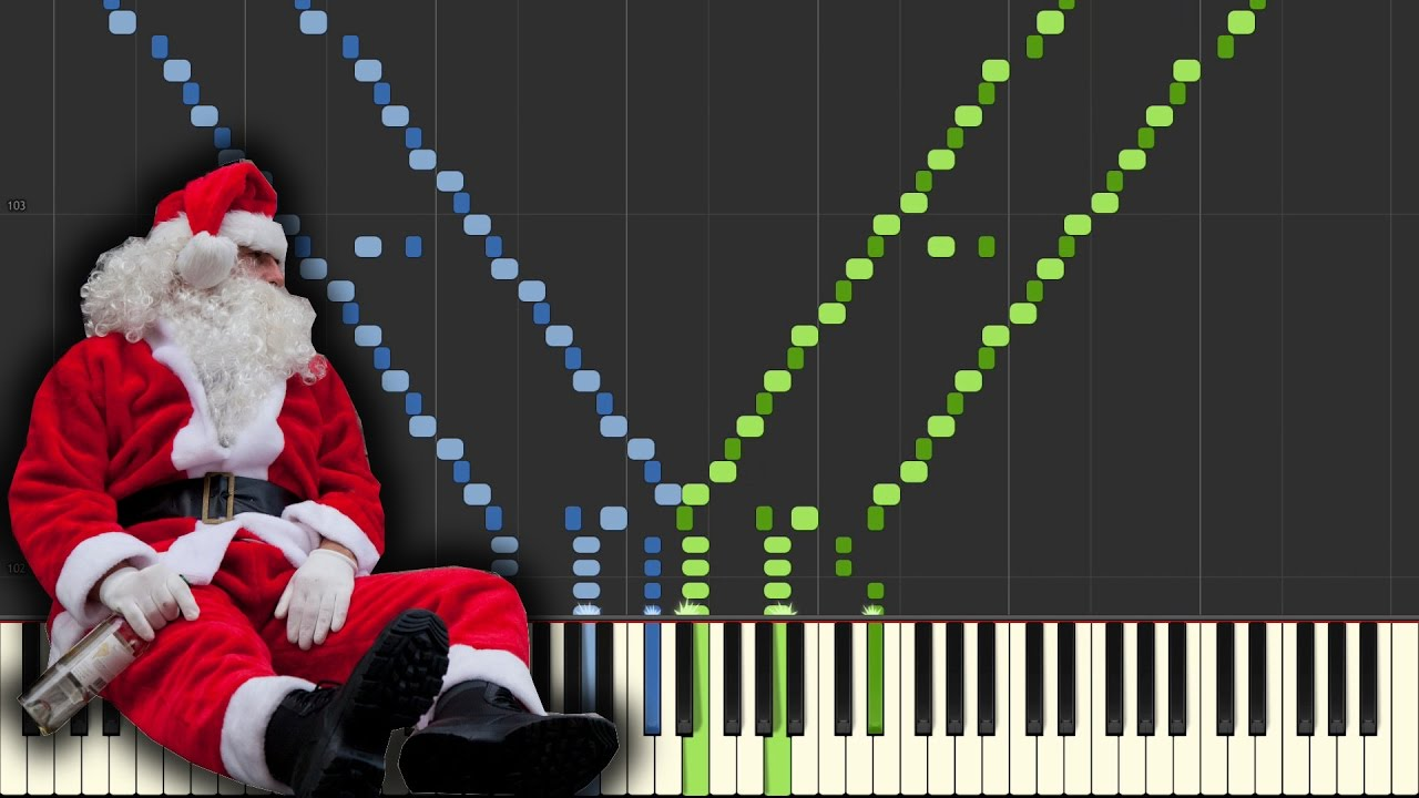 jingle bells sad christmas insane piano tutorial synthesiapiano cover