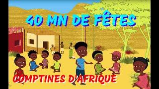 Comptines Festives d'Afrique - 40min de Chansons à geste pour les petits (avec paroles)
