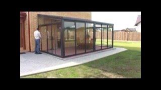 Остекление террасы алюминиевые раздвижные двери(, 2016-04-21T09:15:45.000Z)