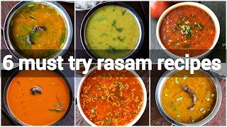 6 must try rasam or saar recipes | saaru recipes | quick and instant rasam recipes collection