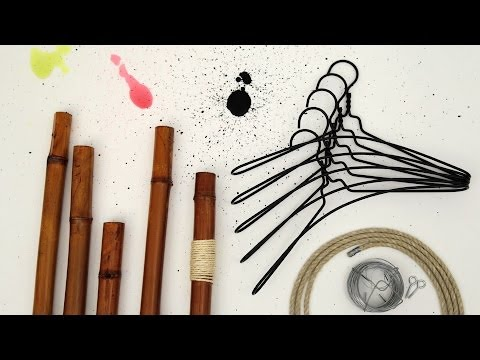 diy comment fabriquer un portant pour enfants youtube. Black Bedroom Furniture Sets. Home Design Ideas
